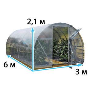 собрать теплицу 3×6 м2 из поликарбоната