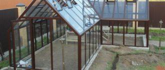 теплица из алюминия и стекла
