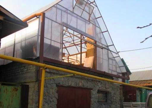 Теплица на крыше частного дома своими руками